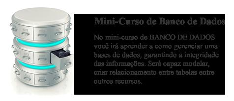 Imagem do Mini-curso sobre Banco de Dados
